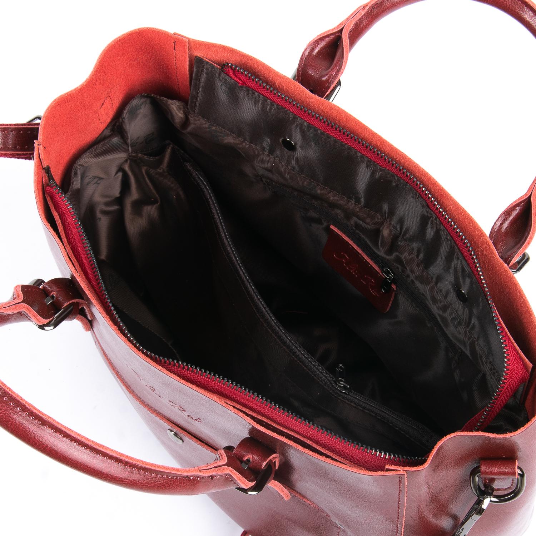 Сумка Женская Классическая кожа ALEX RAI 08-1 8223-64 wine-red