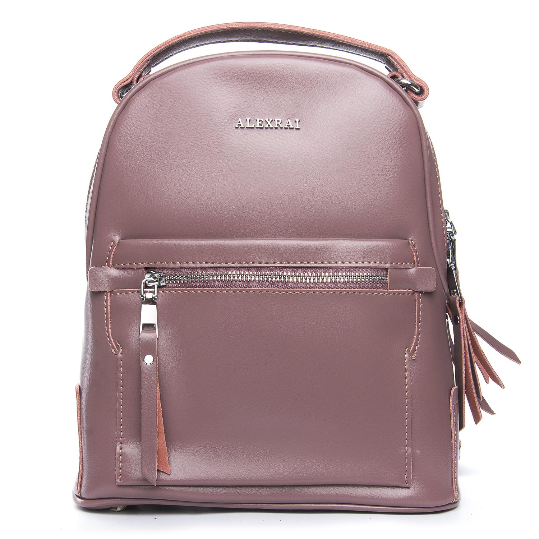 Сумка Женская Рюкзак кожа ALEX RAI 08-2 8695-2 purple