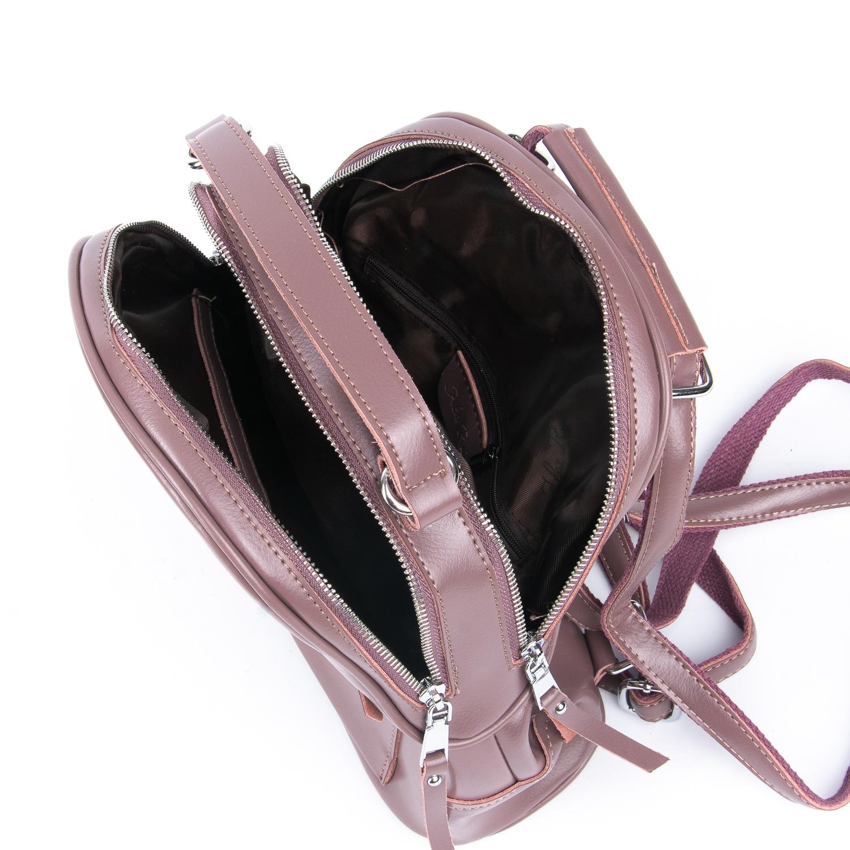 Сумка Женская Рюкзак кожа ALEX RAI 08-2 8695-2 purple - фото 5