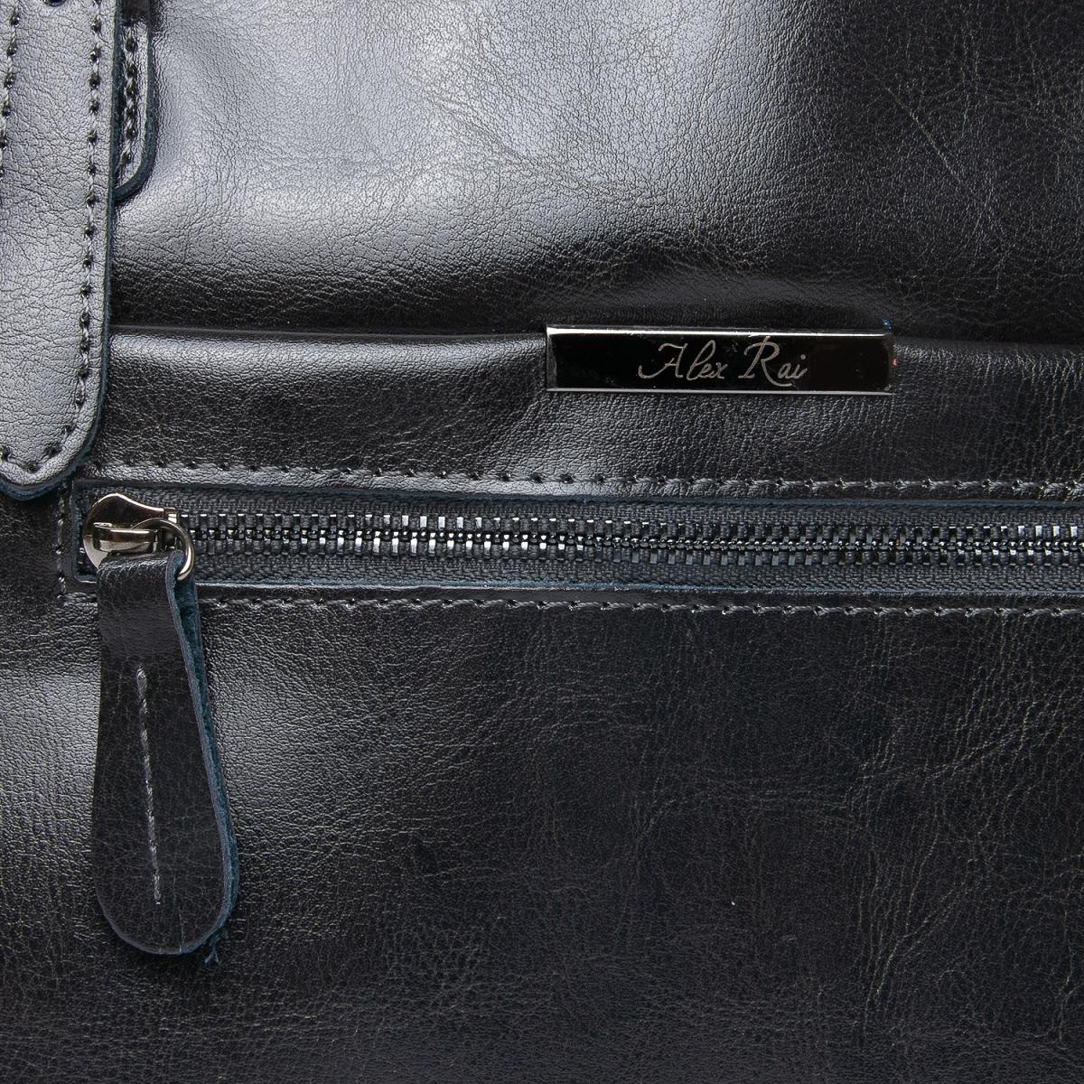 Сумка Женская Классическая кожа ALEX RAI 08-1 8222-64 grey - фото 5
