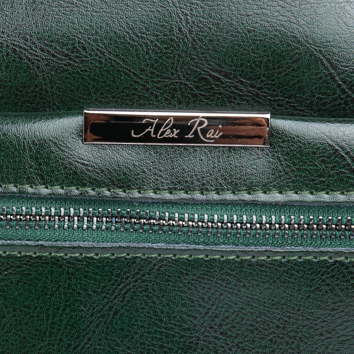 Сумка Женская Классическая кожа ALEX RAI 08-1 8222-64 green - фото 5