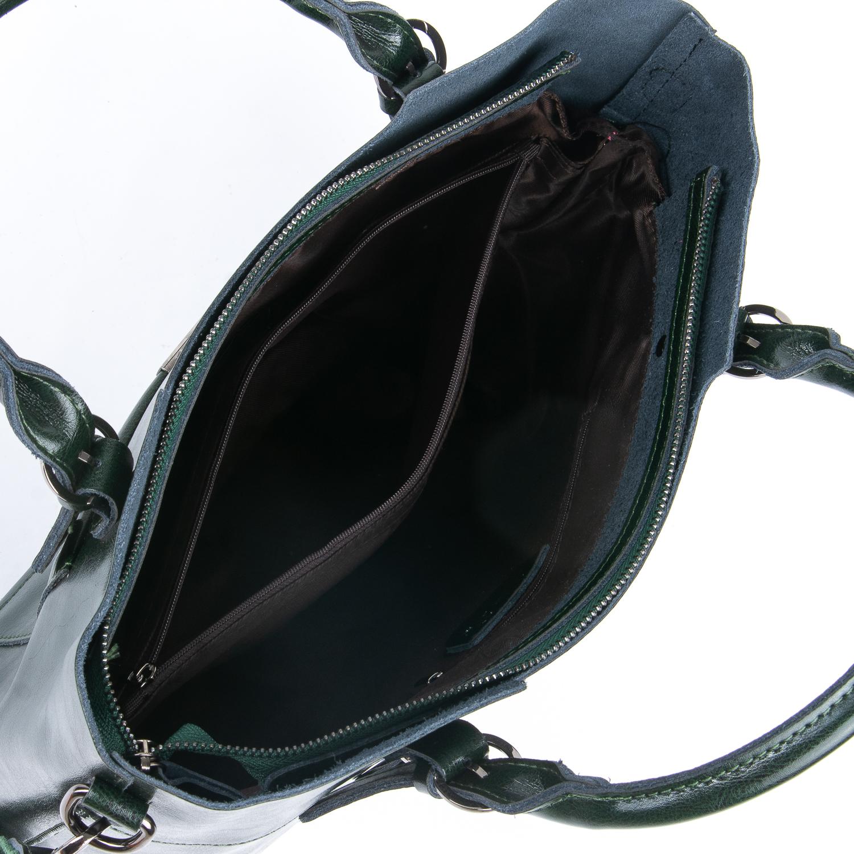 Сумка Женская Классическая кожа ALEX RAI 08-1 8222-64 green - фото 4