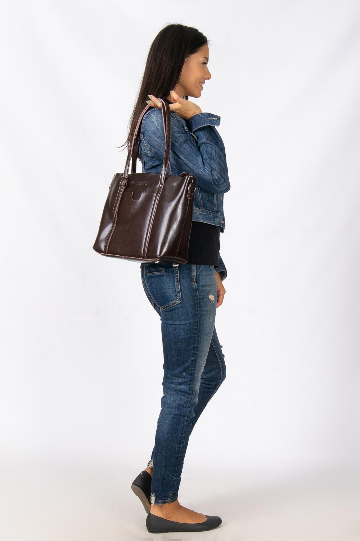 Сумка Женская Классическая кожа ALEX RAI 08-1 1535 brown