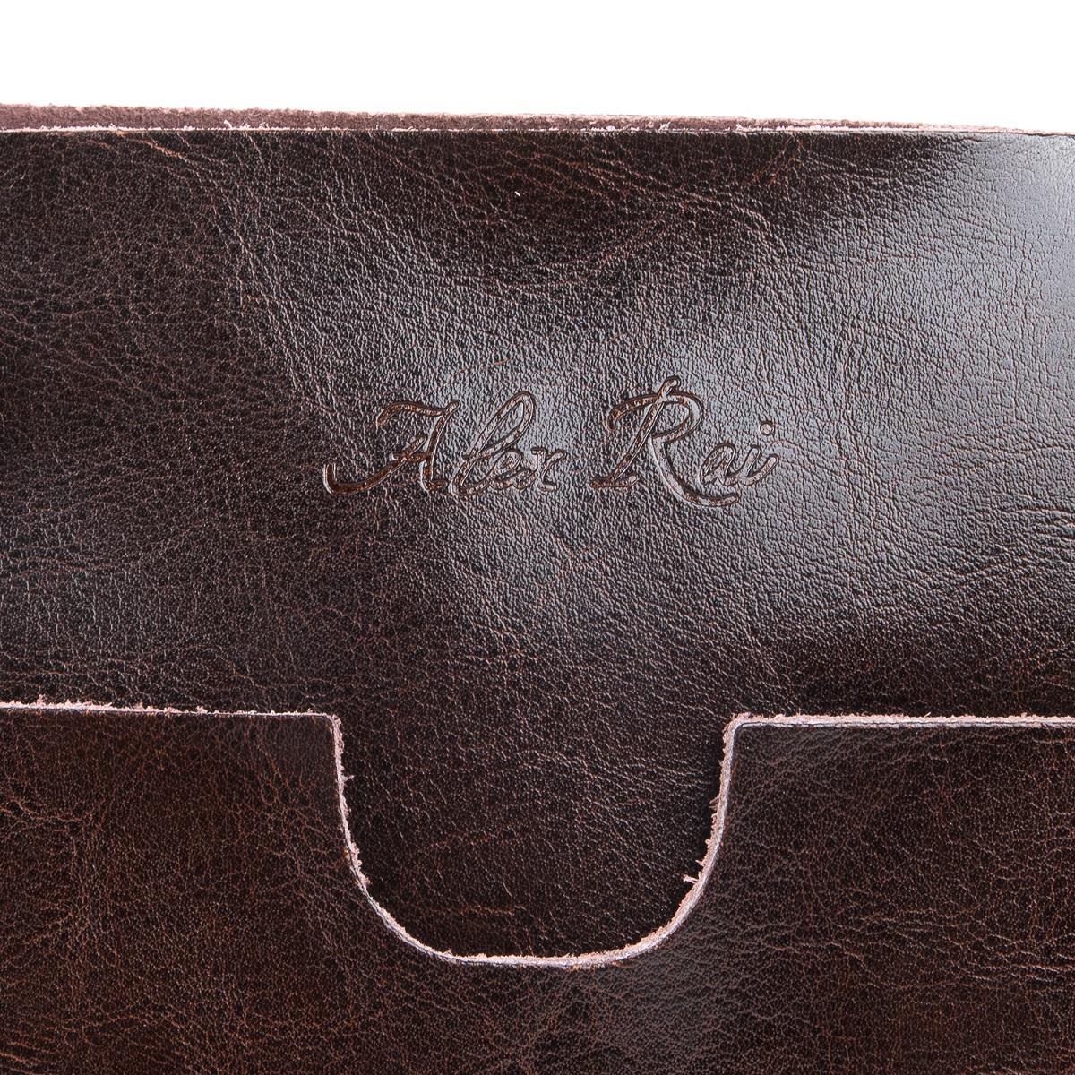 Сумка Женская Классическая кожа ALEX RAI 08-1 1535 brown - фото 4