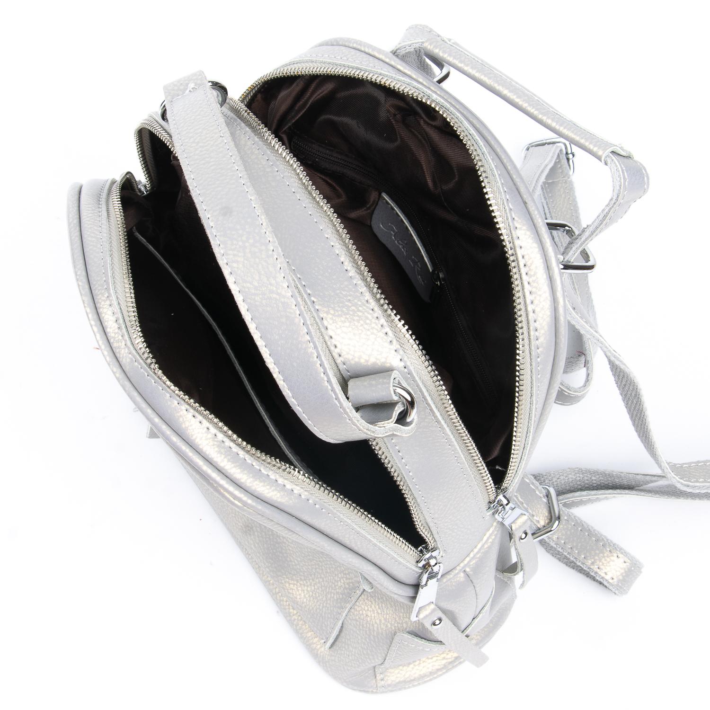 Сумка Женская Рюкзак кожа ALEX RAI 08-2 8695-2 grey - фото 5