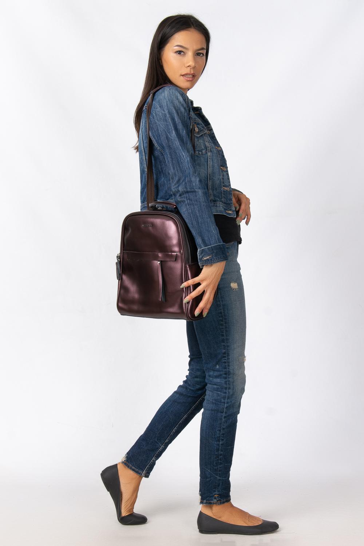 Сумка Женская Рюкзак кожа ALEX RAI 08-2 8694-2 brown - фото 6