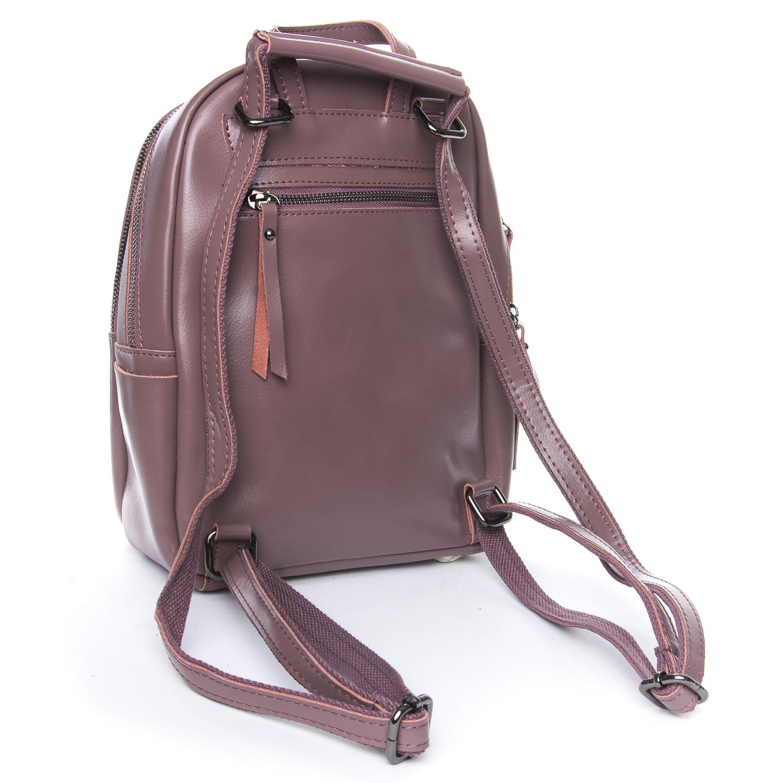 Сумка Женская Рюкзак кожа ALEX RAI 08-2 337 purple