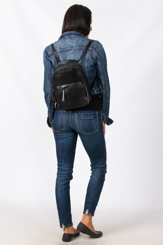 Сумка Женская Рюкзак кожа ALEX RAI 08-2 337 black - фото 6