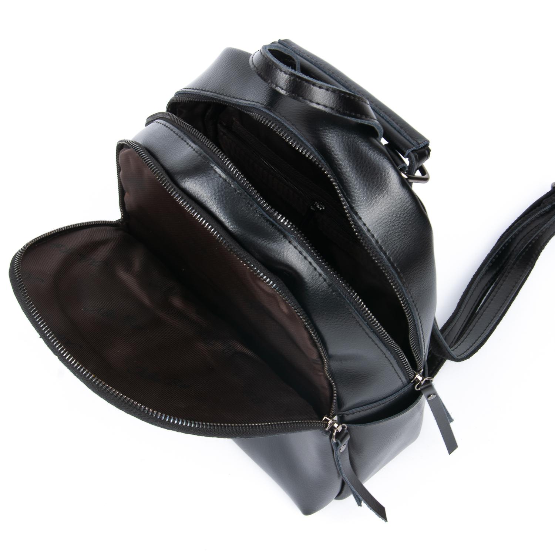 Сумка Женская Рюкзак кожа ALEX RAI 08-2 337 black - фото 5