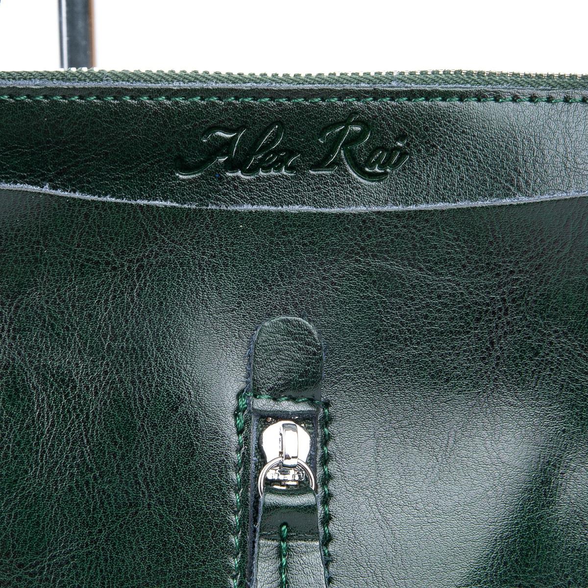 Сумка Женская Классическая кожа ALEX RAI 08-1 1542-64 green - фото 4