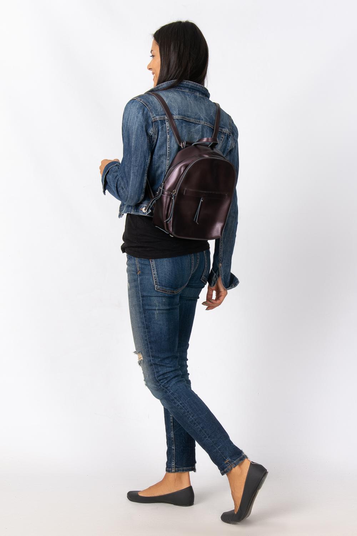 Сумка Женская Рюкзак кожа ALEX RAI 08-2 337 brown - фото 6