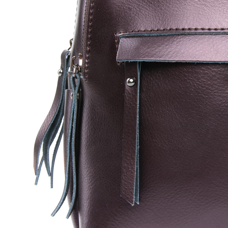 Сумка Женская Рюкзак кожа ALEX RAI 08-2 337 brown - фото 4