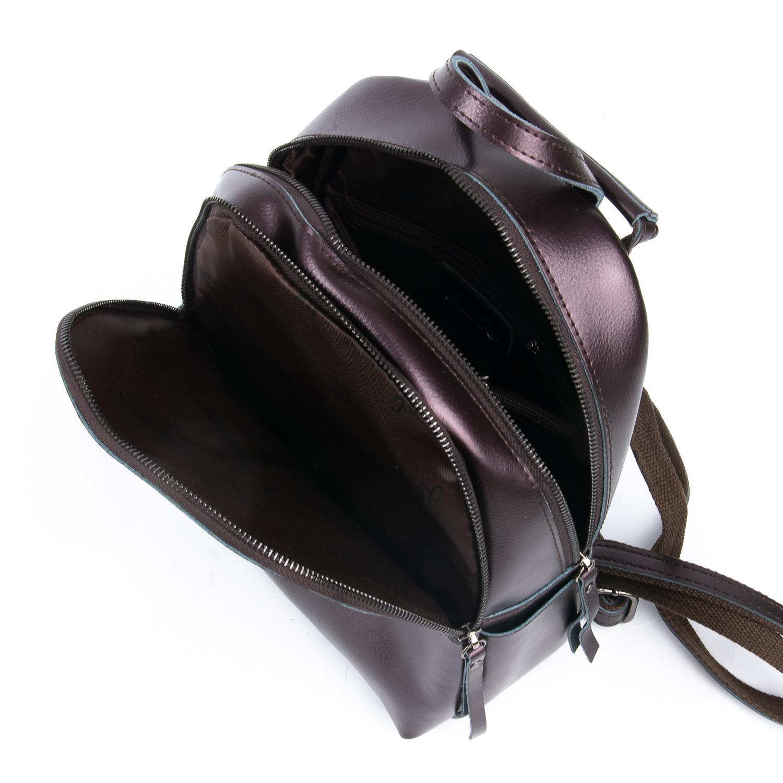 Сумка Женская Рюкзак кожа ALEX RAI 08-2 337 brown - фото 5