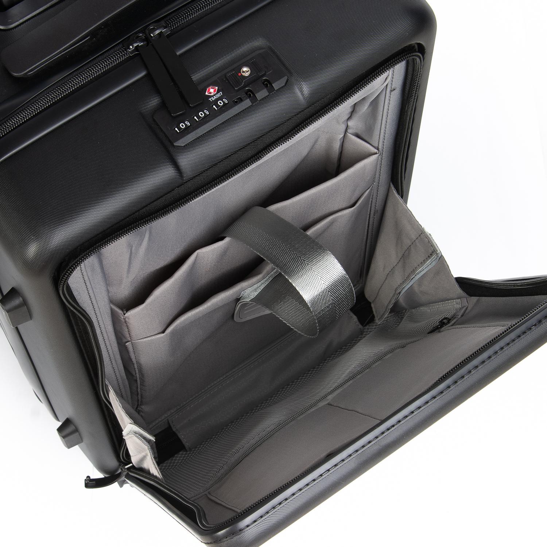 Дорожная Чемодан 2/1 ABS-пластик 105 black змейка