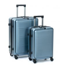Дорожная Чемодан 2/1 ABS-пластик 18 blue змейка 105