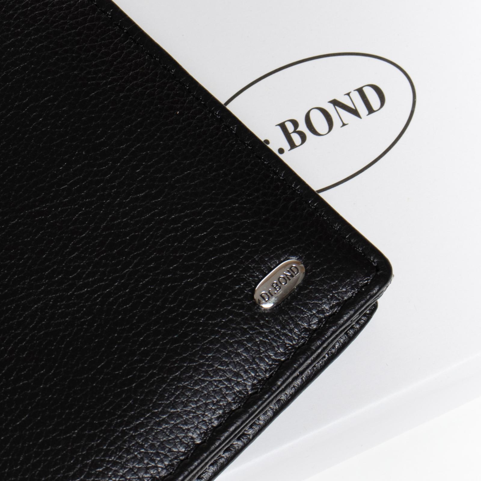 Кошелек Classic кожа DR. BOND WMB-3M black color - фото 3