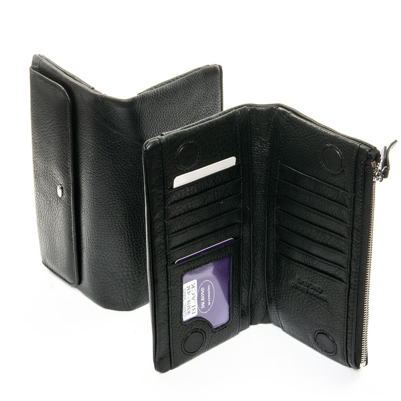 Кошелек Classic кожа DR. BOND WMB-4M black color - фото 4