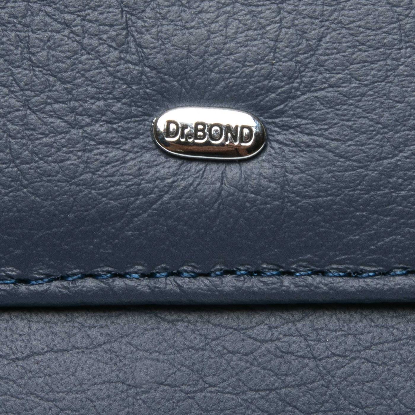 Кошелек Classic кожа DR. BOND WMB-4M blue - фото 4