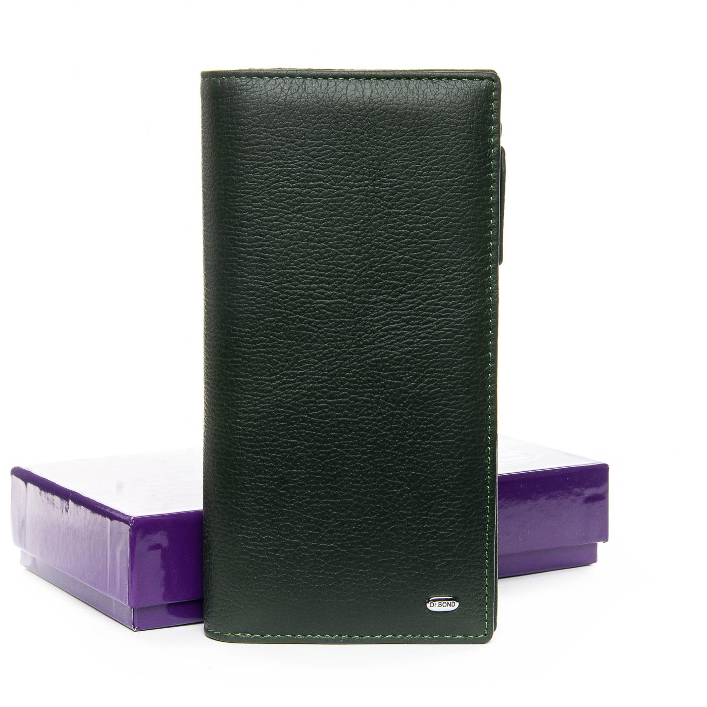 Кошелек Classic кожа DR. BOND WMB-3M green