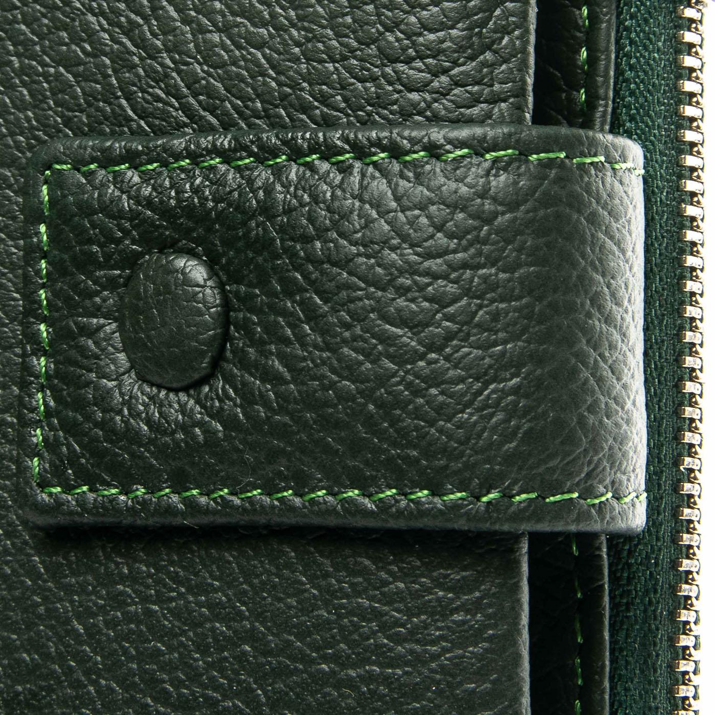 Кошелек Classic кожа DR. BOND WMB-1 green - фото 3
