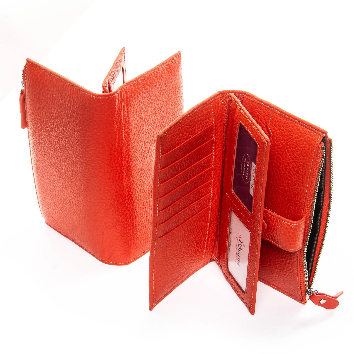 Кошелек Classic кожа DR. BOND WMB-1 orange - фото 4