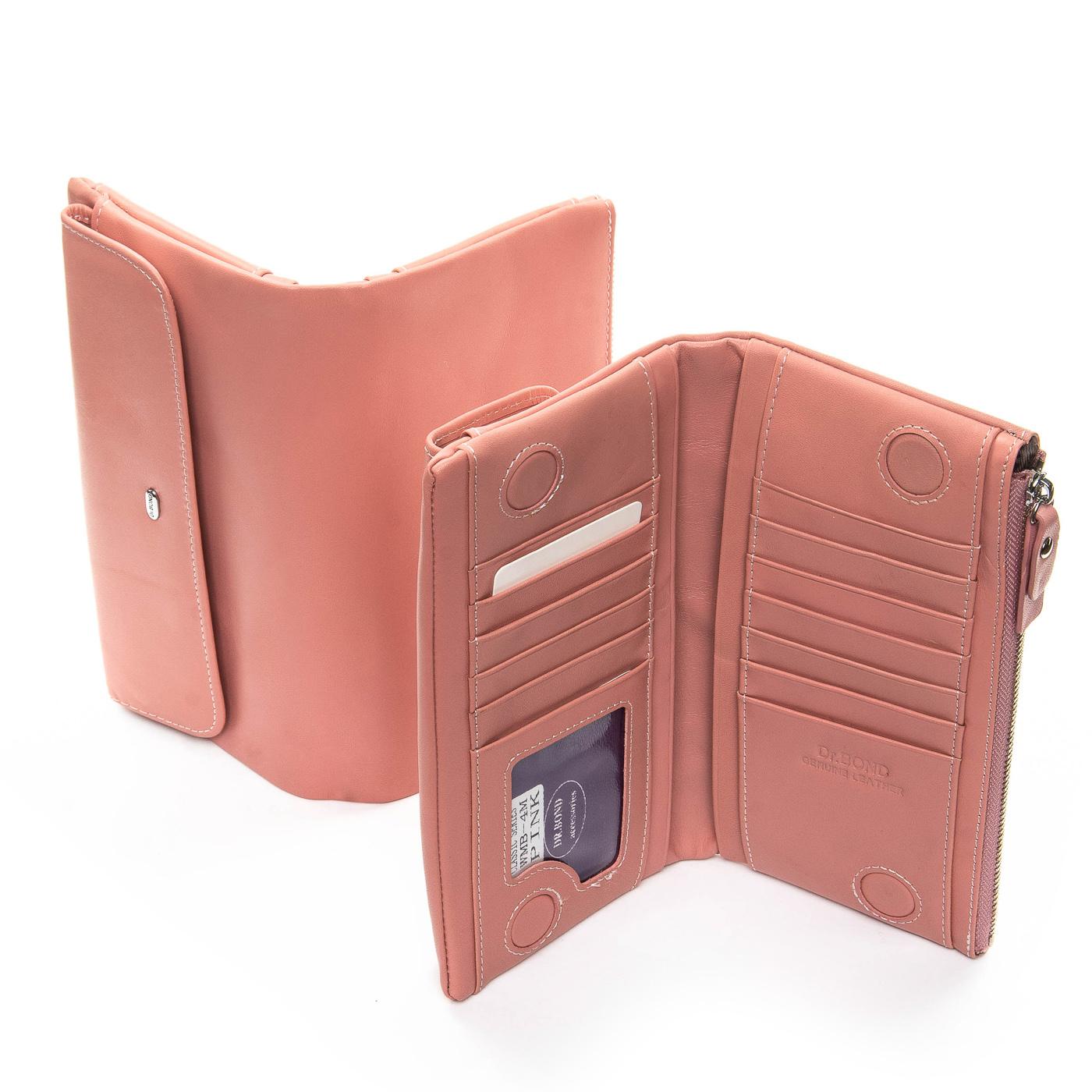 Кошелек Classic кожа DR. BOND WMB-4M pink - фото 4