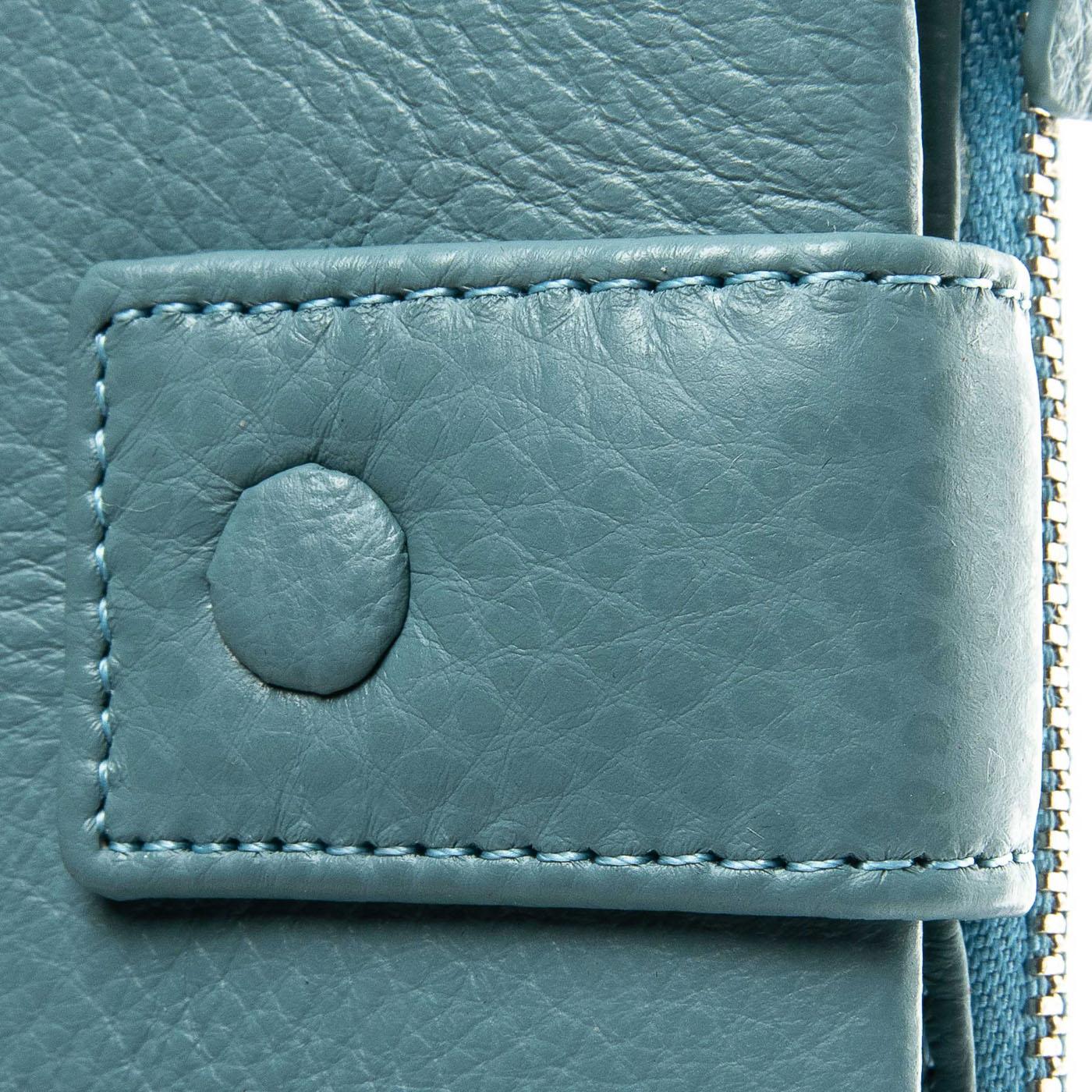 Кошелек Classic кожа DR. BOND WMB-1 light-blue - фото 3