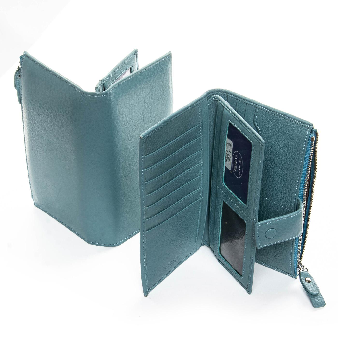 Кошелек Classic кожа DR. BOND WMB-1 light-blue - фото 4