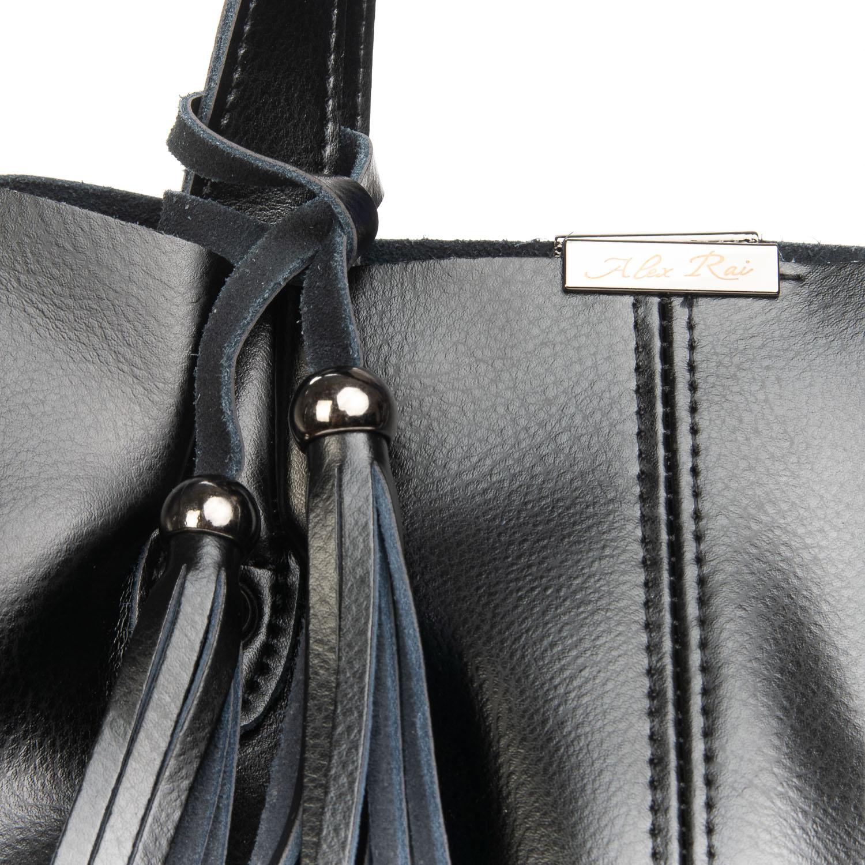 Сумка Женская Классическая кожа ALEX RAI 08-4 8655 black - фото 3