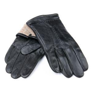 Перчатка Мужская кожа M21/19-1 мод4 black шерсть