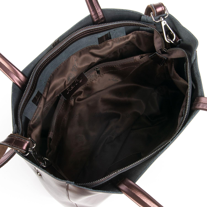 Сумка Женская Классическая кожа ALEX RAI 08-4 8630 brown - фото 5