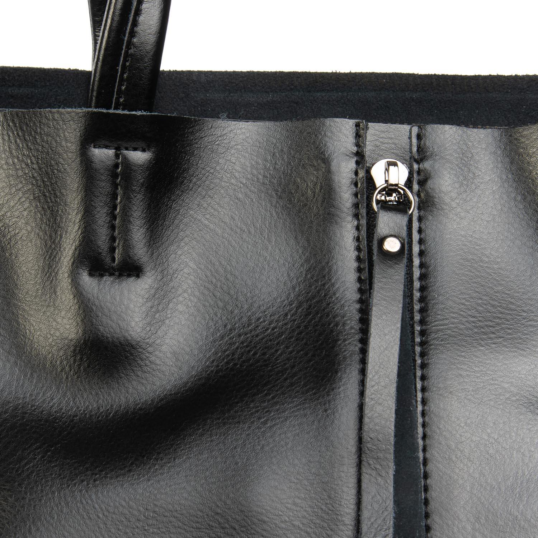 Сумка Женская Классическая кожа ALEX RAI 08-4 8704 black - фото 3