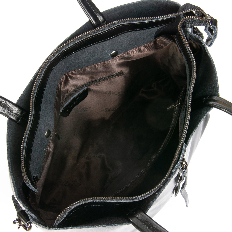 Сумка Женская Классическая кожа ALEX RAI 08-4 8704 black - фото 5