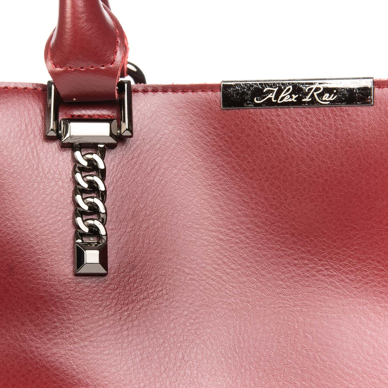 Сумка Женская Классическая кожа ALEX RAI 08-4 8772 wine-red - фото 3