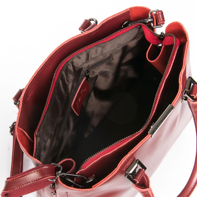 Сумка Женская Классическая кожа ALEX RAI 08-4 8772 wine-red - фото 5