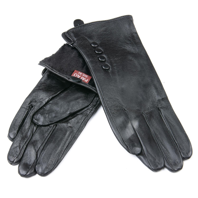 Перчатка Женская кожа F24/19-1 мод2 black флис
