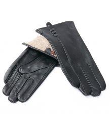 Перчатка Женская кожа F24/19 мод1 black шерсть
