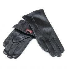 Перчатка Женская кожа F24/19-1 мод1 black флис