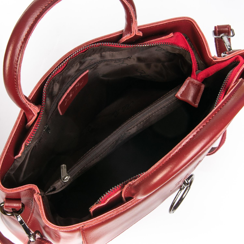 Сумка Женская Классическая кожа ALEX RAI 08-4 9921 wine-red