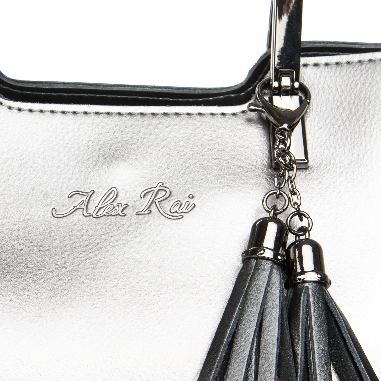 Сумка Женская Классическая кожа ALEX RAI 08-4 1540 grey - фото 3