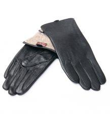 Перчатка Женская кожа F24/19 мод4 black шерсть