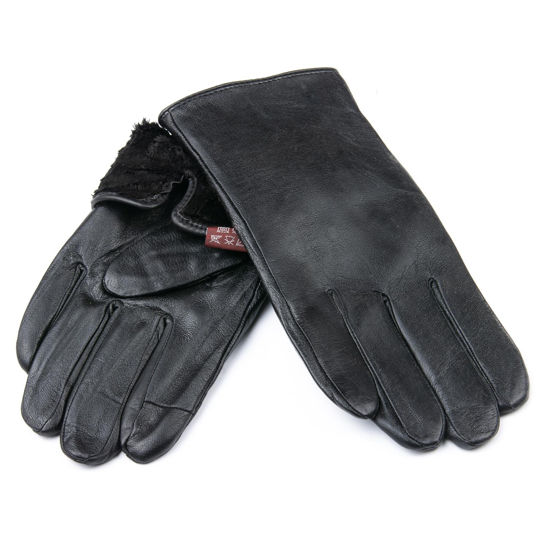 Перчатка Мужская кожа M21/19-2 мод5 black шерсть
