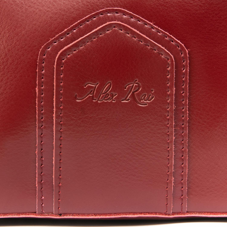 Сумка Женская Классическая кожа ALEX RAI 08-4 8641 wine - фото 3