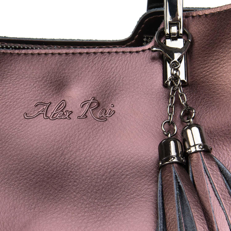 Сумка Женская Классическая кожа ALEX RAI 08-4 1540 brown - фото 3