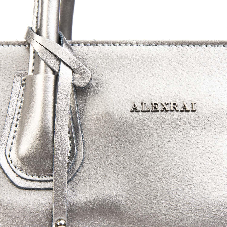 Сумка Женская Классическая кожа ALEX RAI 08-4 1527 grey - фото 3