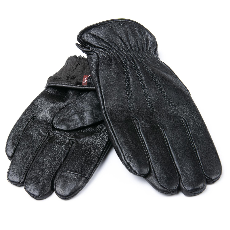 Перчатка Мужская кожа M21/19-2 мод1 black шерсть