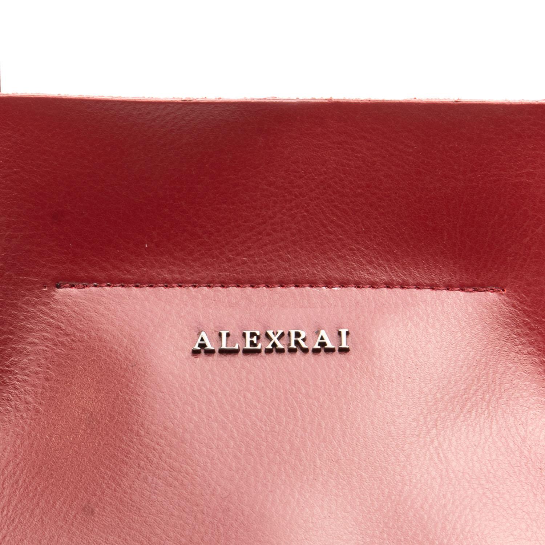 Сумка Женская Классическая кожа ALEX RAI 08-4 8630 wine-red - фото 3