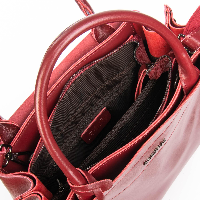 Сумка Женская Классическая кожа ALEX RAI 08-4 8550-1 wine-red - фото 5