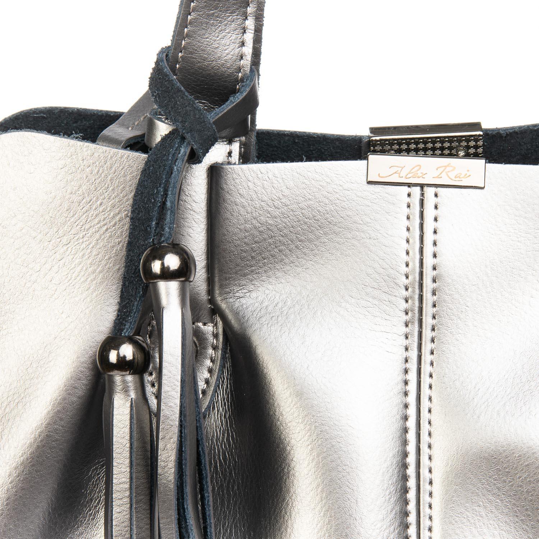 Сумка Женская Классическая кожа ALEX RAI 08-4 8655 grey - фото 3