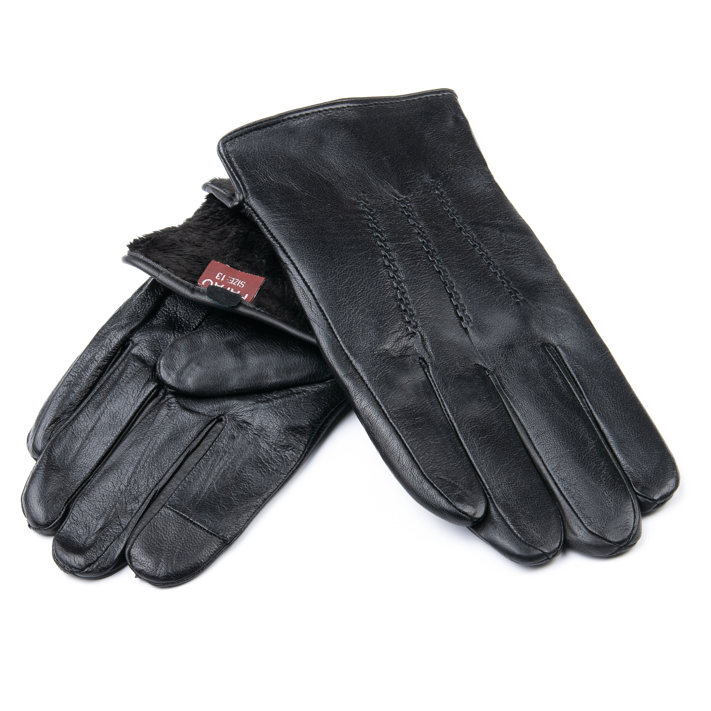 Перчатка Мужская кожа M21/19-2 мод3 black шерсть